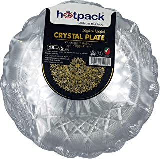 HOTPACK - 5 PIECES CRYSTAL PLATE - 18 centimetre
