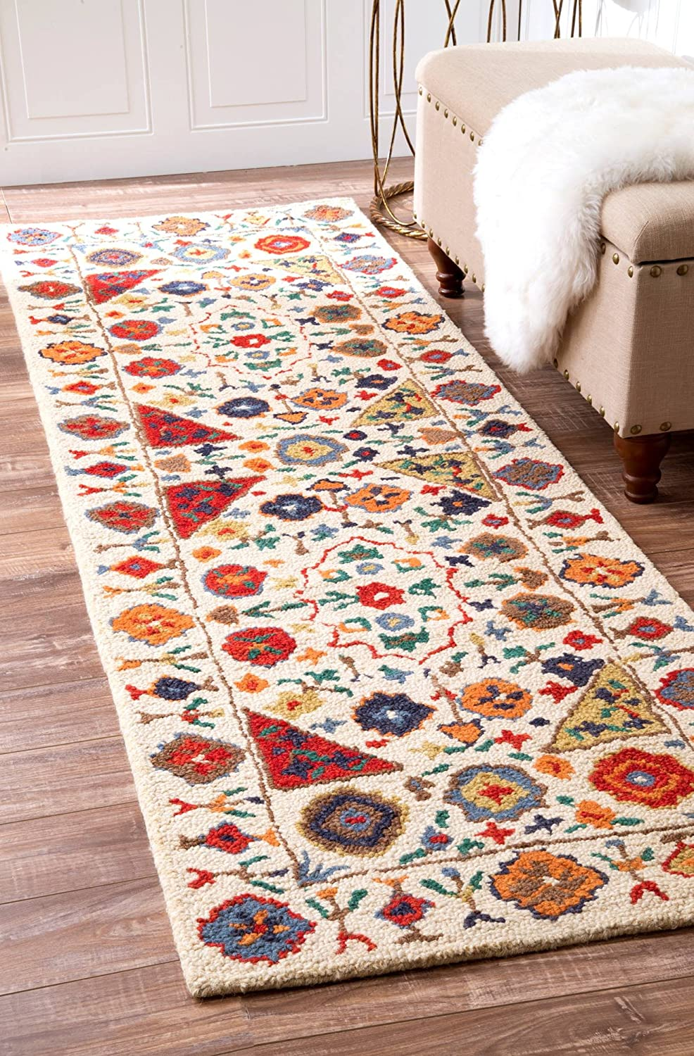 nuLOOM Deonna We OFFer at cheap prices Hand Tufted Wool Runner Cash special price 8' x Multi 6
