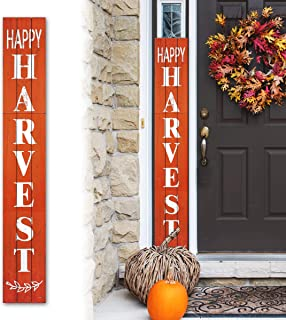 Tall Outdoor Happy Harvest Rustic Craft Porch Sign for...