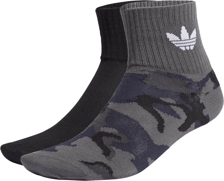 adidas Camo Mid Ankle Socks, Unisex Adulto