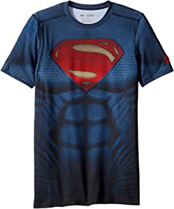 Under Armour Kids - Superman Suit Short Sleeve (Big Kids)