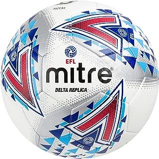 Mitre Delta Replica Soccer Ball, White/Blue/Red, Size 5