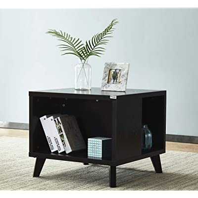 "Mixcept 23.6"" End Table Wooden Sofa Table Squar..."