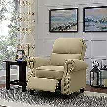 Domesis Cortez Push Back Recliner Chair in Barley Tan Linen