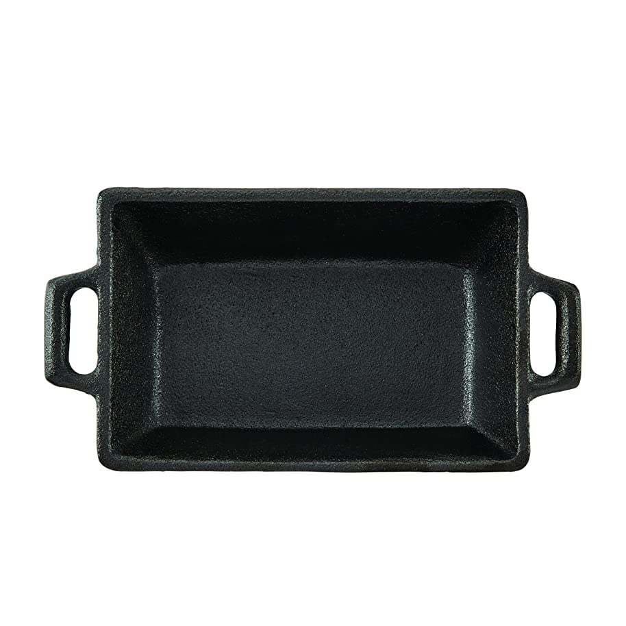 CasaModa 5190351 Pre-Seasoned Cast Iron Mini Square Baker, 5.5-Inch-by-3.5-Inch
