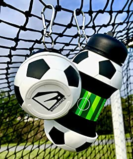Boys Water Bottle for School Soccer Accessories Baseball Basketball Sports Ball Thermos for Kids Reusable No Spill Design Squeezable Cool Fun Safe BPA Free Compact Collapsible Silicone Wide Mouth Lid