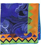 Etro - Geometric Border Pocket Square