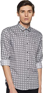 Van Heusen Men's Printed Slim Fit Casual Shirt