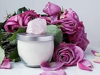 LifeStone Rose Quartz Crystal Soy Candle with Rose Geranium Essential Oil