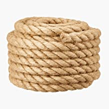 30MM jute barrière touw voor trapleuning/balkon vangrail, industriële henneptouw voor touwtrekken, schommels voor kindere...