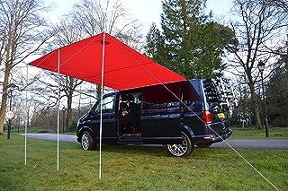 comprar comparacion Toldo de Wild Earth para furgoneta, caravana, autocaravana o caravana, 240 cm x 300 cm, color rojo