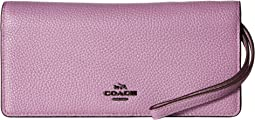 COACH - Slim Wallet in Polished Pebble Leather