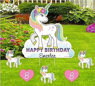 B0013 Unicorn Personalized Birthday Vinyl Indoor Outdoor Banner