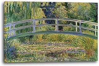 Impresión sobre Lienzo (80x60cm): Claude Monet - Puente japonés sobre el estanq
