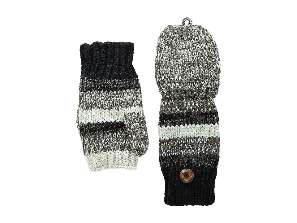 San Diego Hat Company KNG3598 Marled Knit Glitten (Black) Wool Gloves