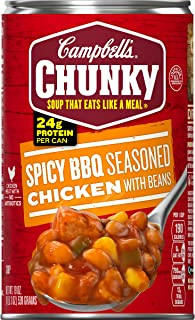 Campbell's Chunky Spicy BBQ Seasoned Chicken with Beans Soup, 19 oz. Can