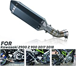 PACEWALKER Motorcycle Exhaust Muffler Middle Link Pipe Accessories For Kawasaki Z900 Z 900 2017 2018 Slip-on Racing With Muffler Carbon Fiber Exhaust