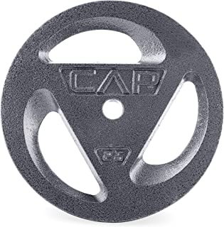 CAP Barbell Standard 1-Inch Grip Plate, Single, Unisex-Adult, CAP Barbell Standard 1-Inch Grip Plates, Single, RPH3-025, 25-Pound