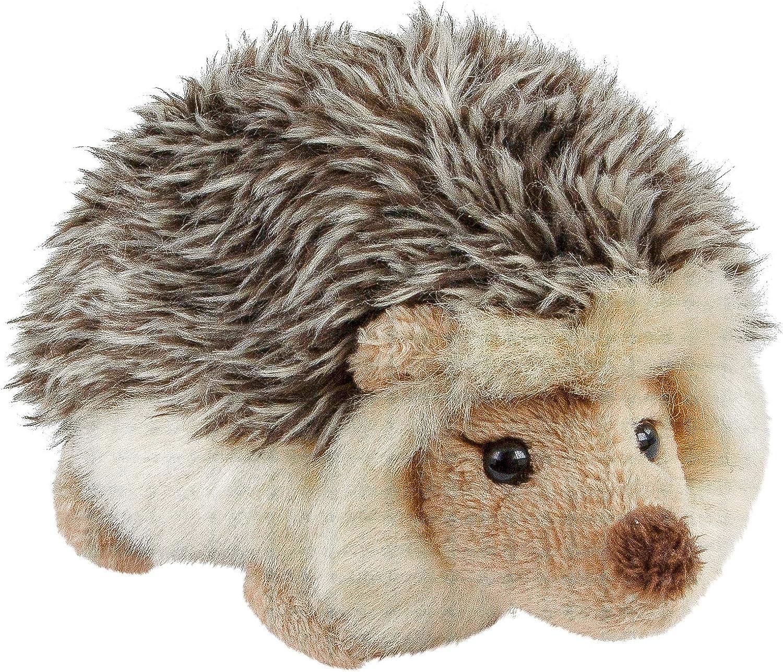 Teddys Rothenburg Erizo de peluche tumbado, 12 cm, color marrón grisáceo