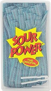 SOUR POWER Berry Blue Candy Belts, 150 Pieces, 42.3 Ounce