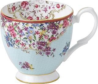 Royal Albert Candy Vintage Mug, 10.5 oz, Mostly White with slight Blue & Multicolored Print