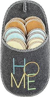 Pantofola ONVAYA® ABS Pantofole per gli ospiti | CASA scrivendo | set di 6 | Suola antiscivolo | Pantofole | Pantofola di ...