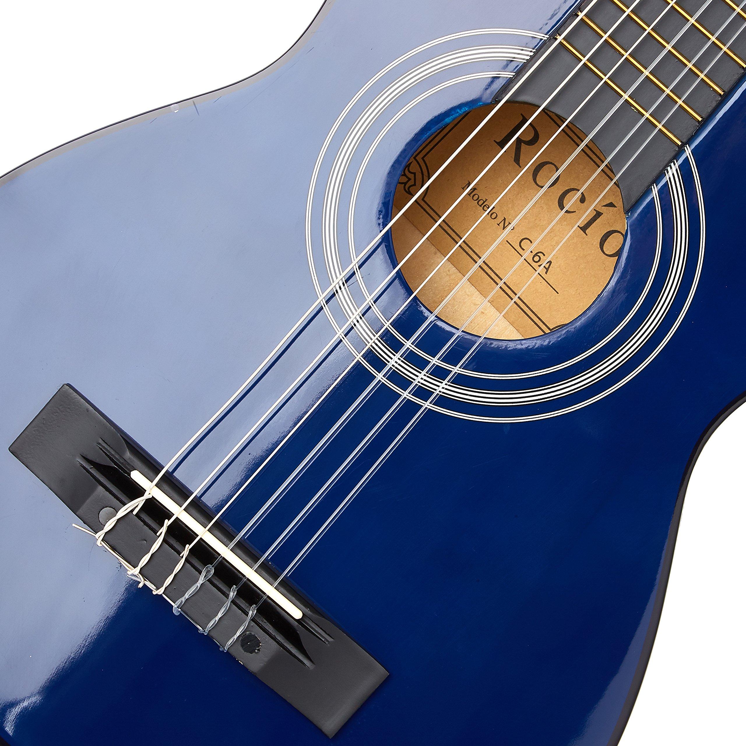 Guitarra rocio c6n (1/4) cadete 75 cms azul: Amazon.es ...