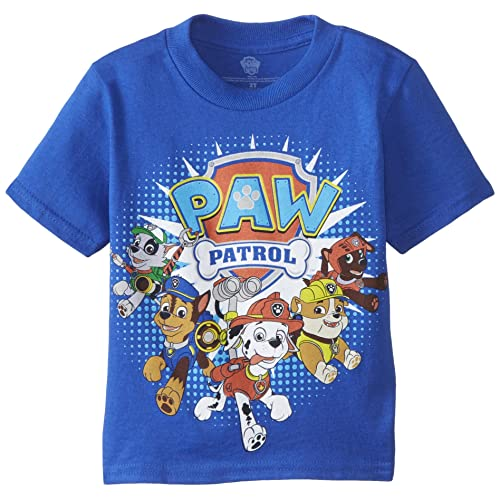 5a57f786b Paw Patrol Little Boys' Toddler Group T-Shirt, Royal, ...