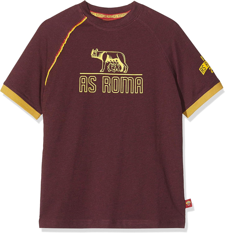 T-Shirt Girocollo Bambino Bordeaux Lupa T-Shirt Bambino AS Roma