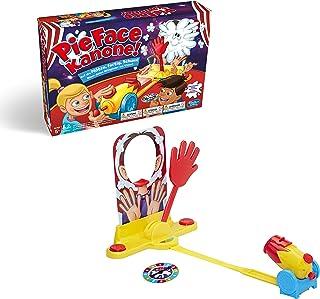 Hasbro Pie Face Kanone, rolig partyspel, sågenorm familjespel, samhällsspel för barnfödelsedag, vem får strängen i ansikte...