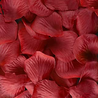 Super Z Outlet Silk Fabric Flower Mini Rose Petals for Weddings (1000 Pieces) (Red)