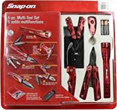Snap-On 5 Pc. Multi Tool Set with LED Flashlight and Keychain