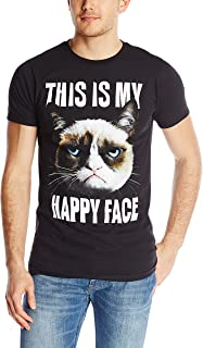 Men's Grumpy Cat Happy Face T-Shirt