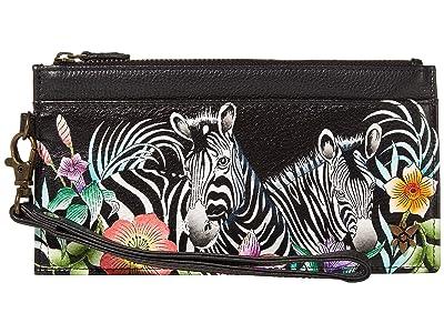 Anuschka Handbags Organizer Credit Card Wristlet Wallet 1151 (Playful Zebras) Bags