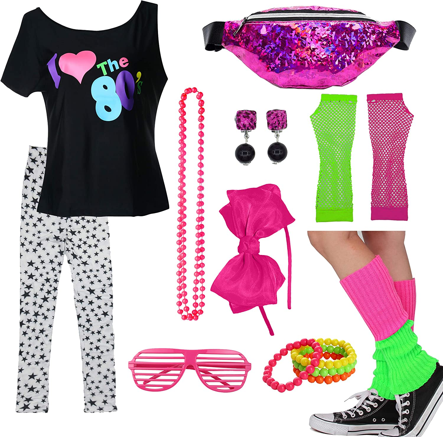 Kids Limited price sale 1980s supreme Accessories I Love The with Fanny Outfit 80's T-Shirt