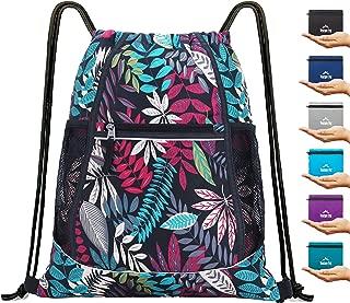 Packable Sport Gym Drawstring Sackpack Backpack Bag with Wet Pocket for Men,Women-8 Colors