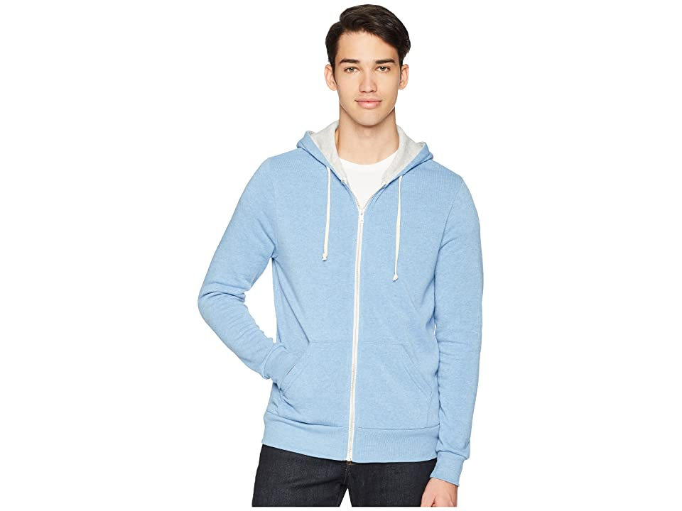 Alternative Rocky Color Blocked Hoodie (Silver Lake Overdye/Eco Oatmeal) Men