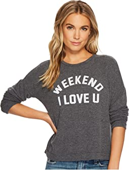 The Original Retro Brand - Weekend I Love You Super Soft Haaci Pullover