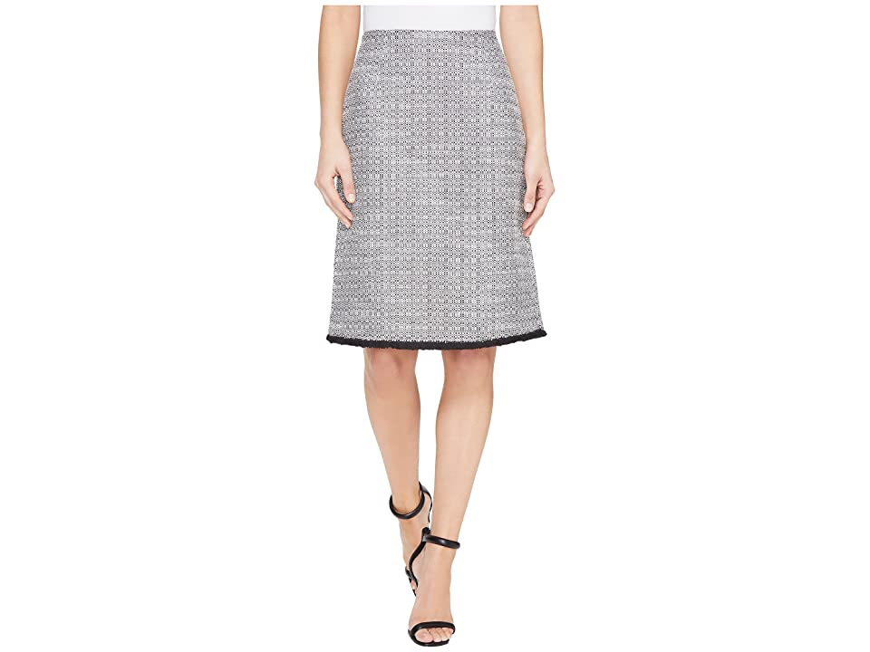 Ellen Tracy A-Line Skirt (Black Combo) Women