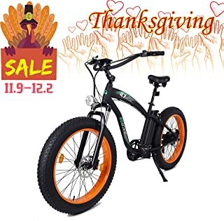 ECOTRIC Powerful Fat Tire Electric Bicycle 26