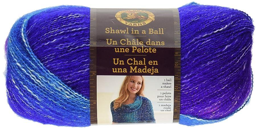Lion Brand Yarn Shawl in a Ball Hometown Yarn, Half Moon