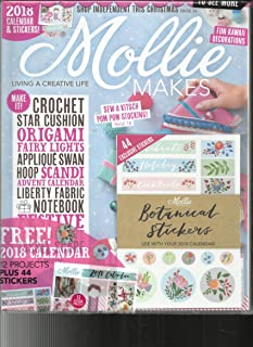 MOLLIE MAKES MAGAZINE, LIVING A CREATIVE LIFE ISSUE,85 FREE GIFTS INCLUDED