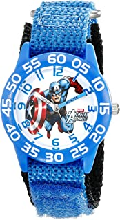 Captain America Boys' Blue Plastic Time Teacher Watch