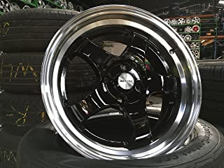 King of Rims New 16 inch Work Meister design PCD 4x100 a set of 4 (Black)