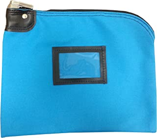 Locking Bank Bag Canvas Keyed Security (Deep Sky Blue)