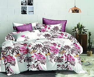 Flower Comforter 4Pcs Set Double 220x240cm, AI1217D, white & pink