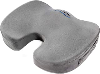 Cushina BEST MEMORY FOAM CUSHION FOR ANY SEAT - Premium Orthopedic Coccyx Cushion - Helps Relieve Lower Back, Tailbone Pain And Sciatica - Medically Proven Lumbar Support - Portable Ergonomic Chair Seat Pad for Indoor, Outdoor, Home and Office, Computer, Couch, Driving, Auto Seat, Wheelchair, Stadium and More. *Lifetime Guarantee*. Best Selling eBook Included With Every Order.