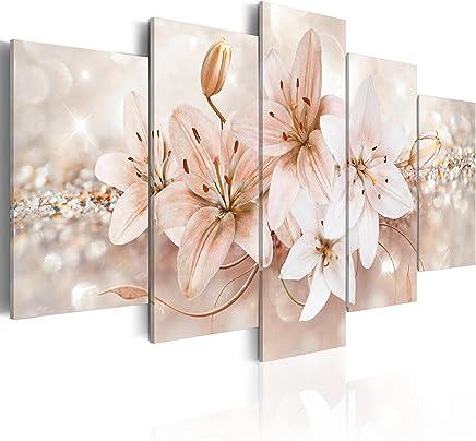 murando - Cuadro 200x100 cm - Flores - impresión de 5 Piezas - Material Tejido no Tejido - impresión artística - Imagen gráfica - Decoracion de Pared - b-A-0297-b-o