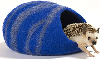 Twin Critters Handcrafted Hedgehog Cave Bed - KubbiHog - for Hedgies