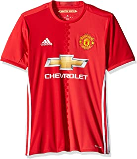 International Soccer Manchester United Men's Jersey, Small, Red/White